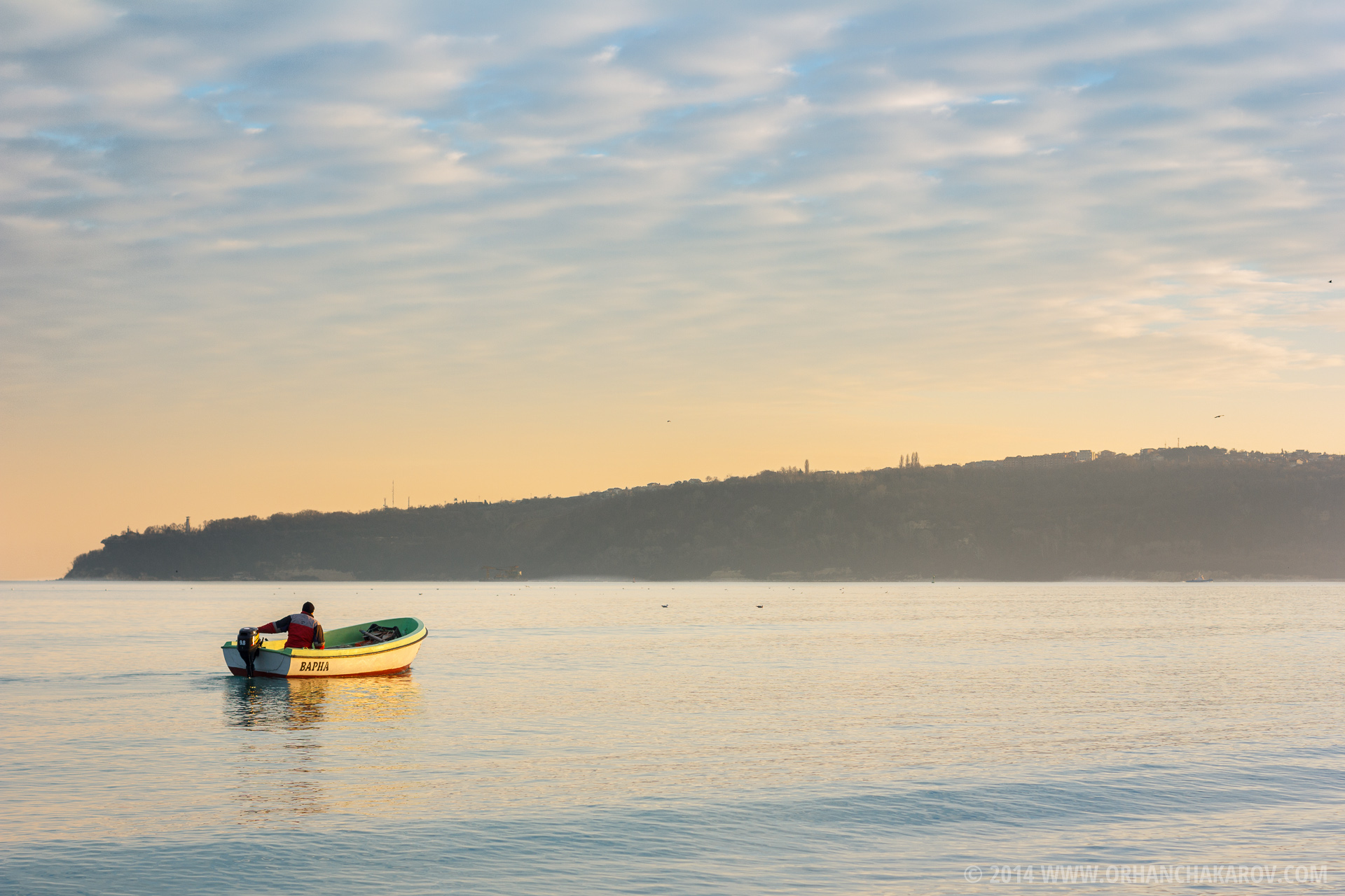 Рибар по залез. Фотограф - Орхан Чакъров, град Варна