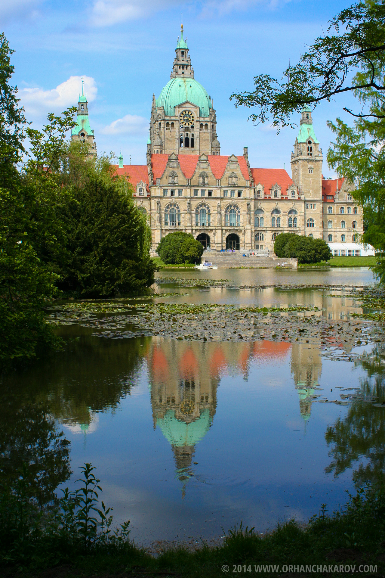 Сградата на кметството в град Хановер, Германия. Фотограф - Орхан Чакъров, град Варна